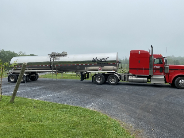 6,900 Gallon Ethanol Tanker delivery